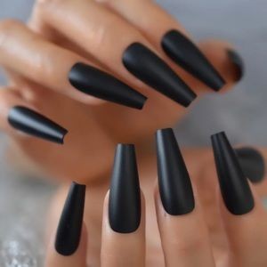 BNIB long matte black press on nails